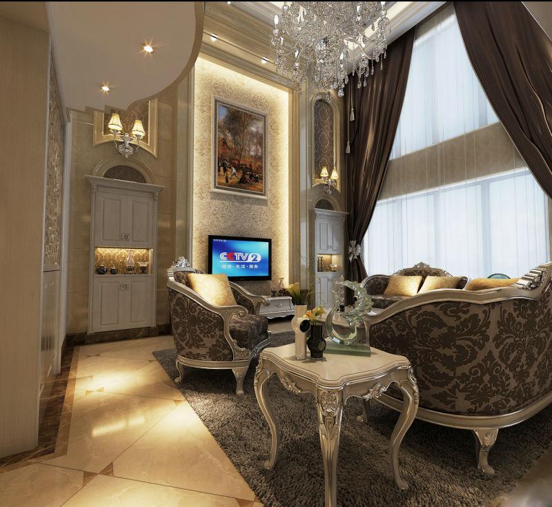 崇州自建房 420平米 现代欧式 别墅 客厅图片来自cdxblzs在崇州自建房 420平米 现代欧式的分享