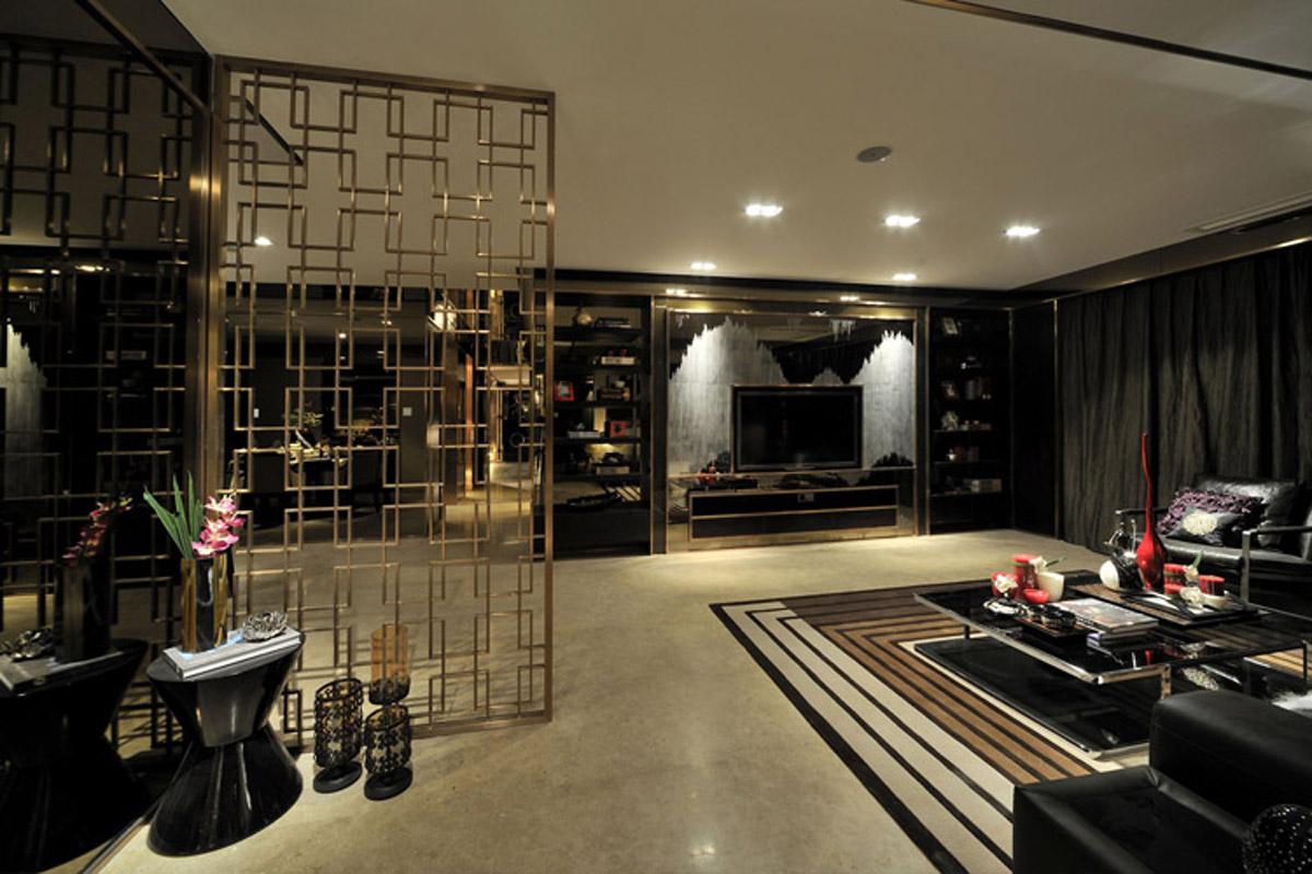 旧房改造 别墅 软装配饰 方案设计 客厅图片来自北京别墅装修-紫禁尚品在后现代奢华风格的分享