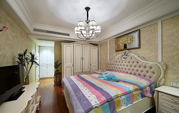 繁花似锦的壁纸,奢华的装饰镜,敦厚精美的床,都能带出古典欧式风格特有的质感。