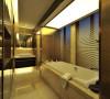 卫生间装修设计简约明朗,厚实大方,散发出一种独特的后现代魅力。