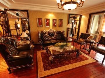 上海实创装饰148平三居室新中式
