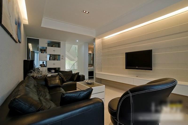 简约 欧式 田园 混搭 二居 三居 别墅 白领 旧房改造 客厅图片来自安紫设计工作室在14年现代简中别墅的分享