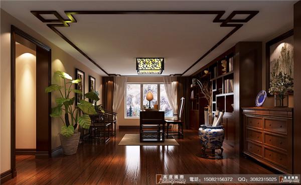 麓山国际书房细节效果图--成都高度国际装饰设计