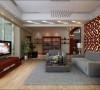 中式配上灰色的沙发时代感跟强烈,