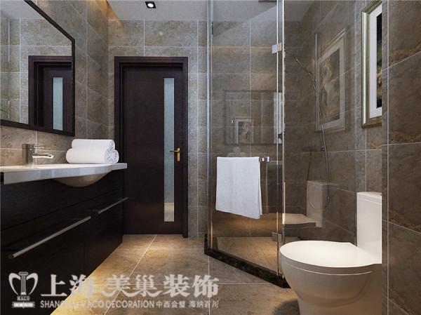 鑫苑世纪东城120平三室两厅现代简约风格装修效果图——主卫生间
