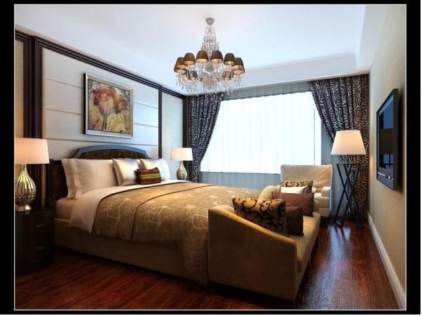 卧室更是精心设计,仿实木地砖让整个卧室显得特别的有大自然的感觉,同时,背景墙采用了软包,让整个卧室充满了艺术气息,简洁的布局的设置与装饰,显得特别的随意大方。