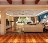 客厅设计: 整体墙面采用德国进口羊毛壁布,外刷淡黄色乳胶漆,壁布纹理的多样化让空间更加生动