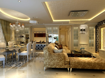 上海实创装饰160四居室简欧装修