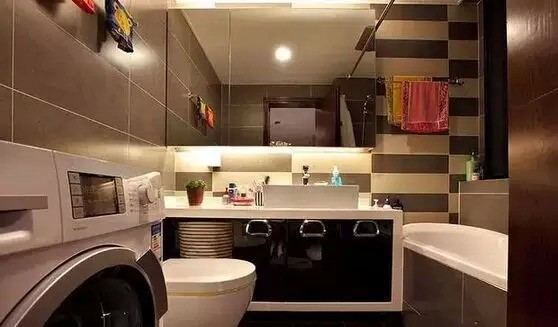 简约 现代 二居 三居 白领 收纳 80后 小资 旧房改造 卫生间图片来自高度国际装饰宋增会在80平简约婚房 看完绝对难以置信的分享