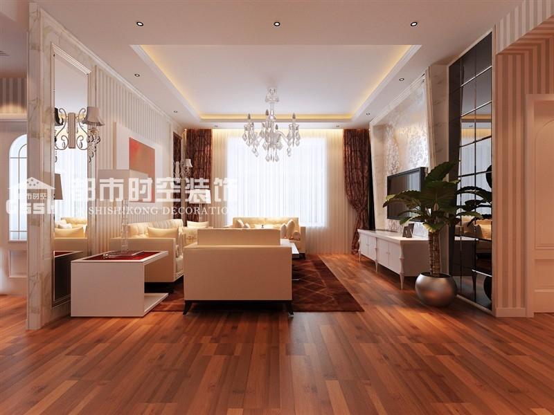 客厅图片来自山西都市时空装饰小吴在紫苑简欧简约效果图案列的分享