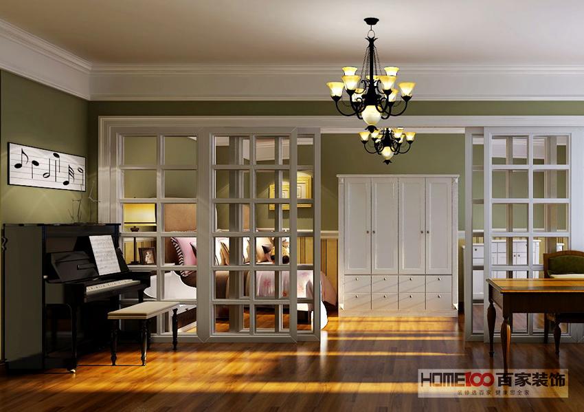 三居 美式 客厅图片来自百家装饰杨乐乐在中海寰宇天下140的分享