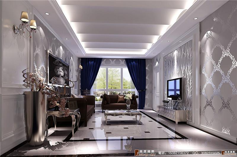 高度国际 别墅装修 客厅图片来自成都高端别墅装修瑞瑞在简欧风格----成都高度国际装饰的分享