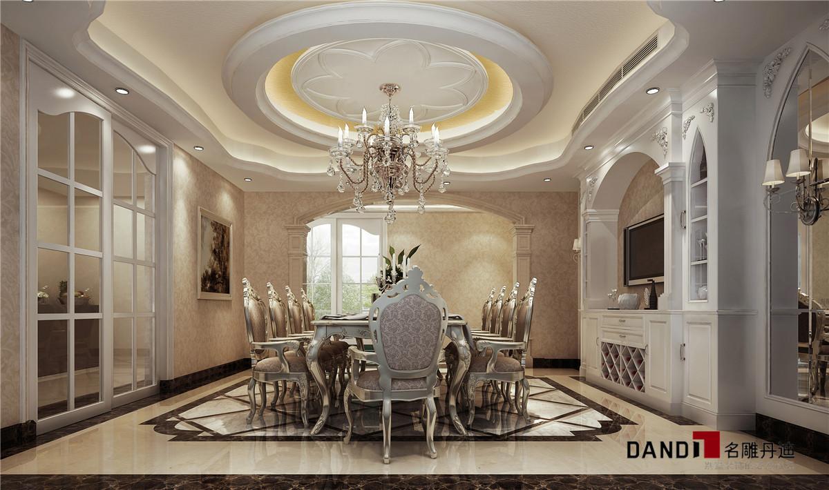 现代奢华 别墅 餐厅图片来自名雕丹迪在时尚与实用并重的新风格的分享