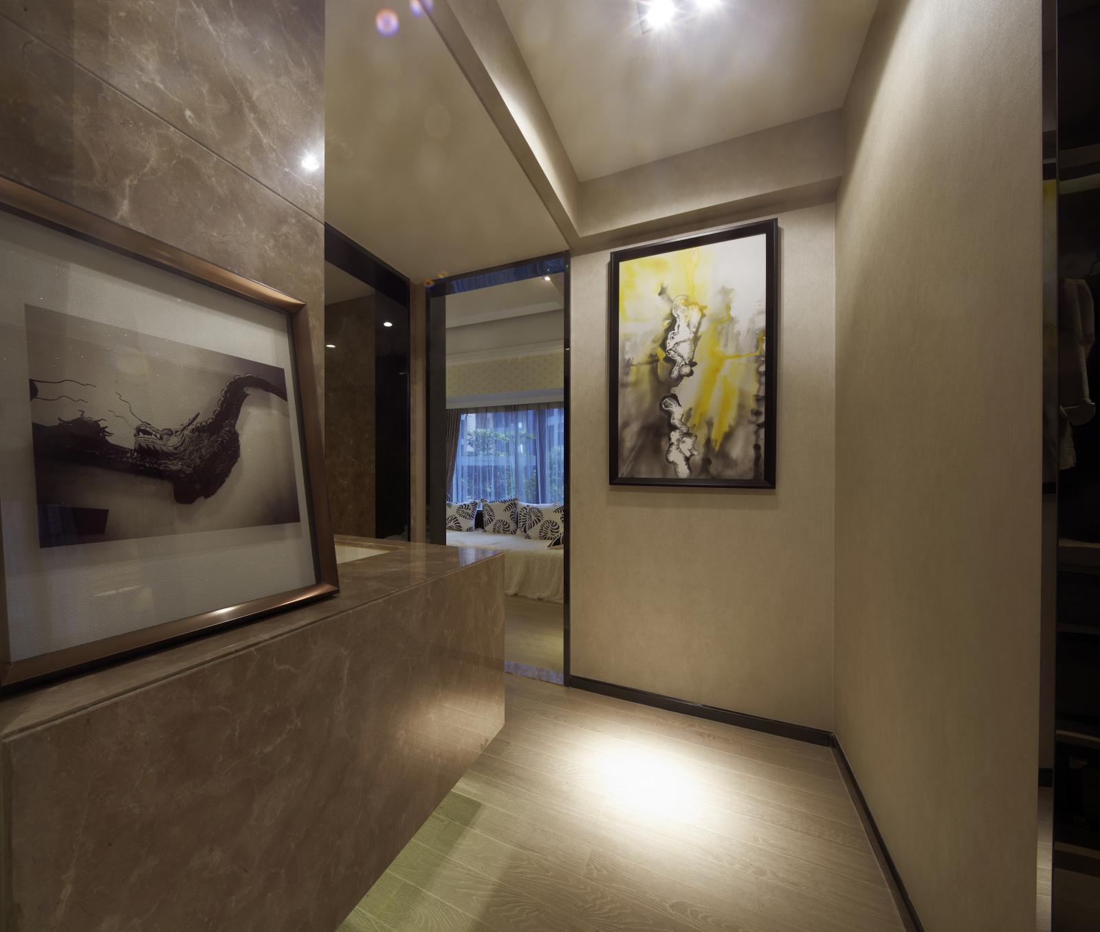 二居 简约 户型图图片来自百合居装饰工程有限公司在现代简约 蓝都会的分享