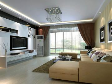 上海实创装饰176平米三居简约风