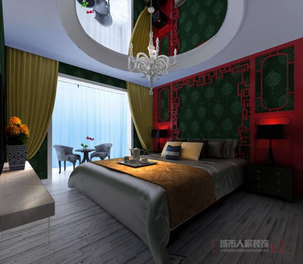 卧室顶面镜子激发创作思维,在写作之余带来一些新的感受。