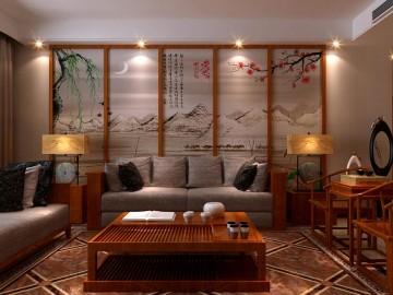 石家庄盛邦小区三室两厅中式风格