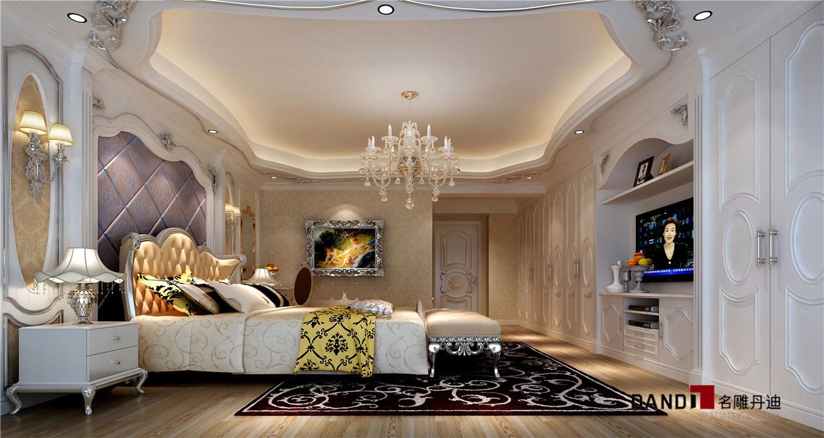 现代奢华 别墅 卧室图片来自名雕丹迪在时尚与实用并重的新风格的分享