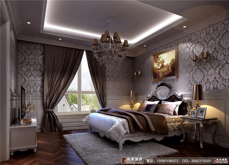 高度国际 别墅装修 卧室图片来自成都高端别墅装修瑞瑞在简欧风格----成都高度国际装饰的分享