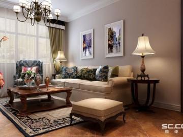 伍号院89平两居室简约设计方案