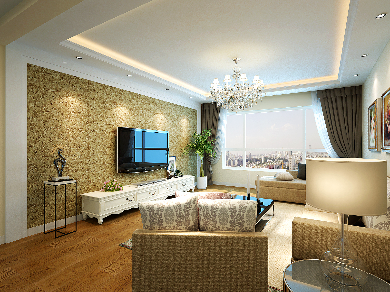 简约 三居 80后 白领 客厅图片来自装饰装修-18818806853在海珠湖景峰简清新简约风格的分享