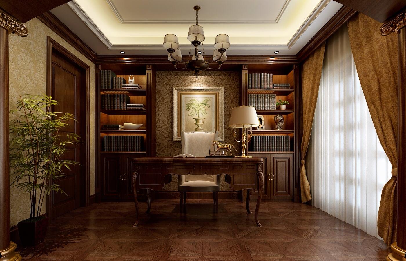 简约 欧式 田园 混搭 二居 三居 别墅 白领 旧房改造 书房图片来自龙发装饰--梁宇在银基王朝的分享