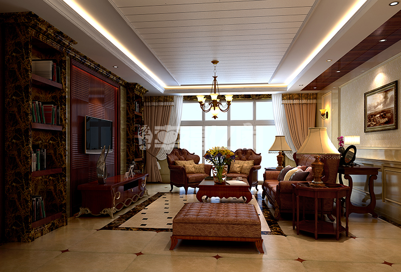 客厅图片来自幸福亿家装饰在保利春天里整装案例的分享