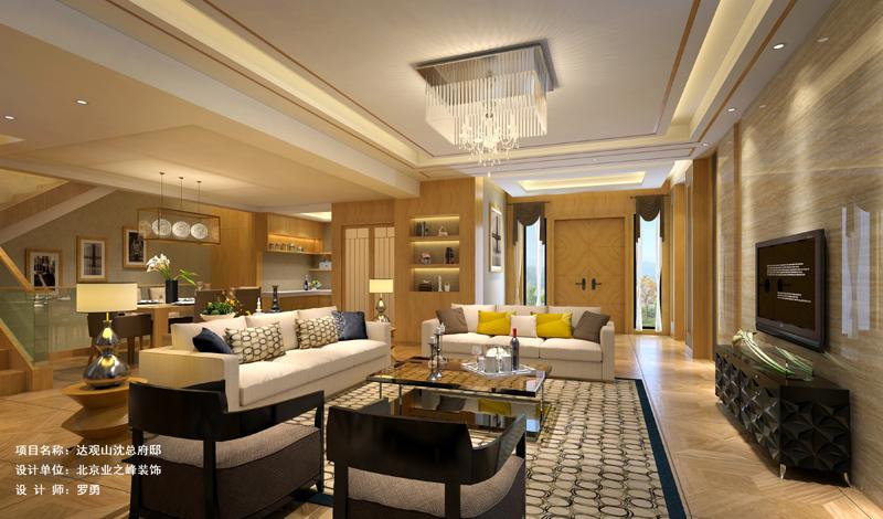 吊顶 灯具 沙发 茶几 客厅图片来自成都业之峰装修小管家在330平别墅案例的分享