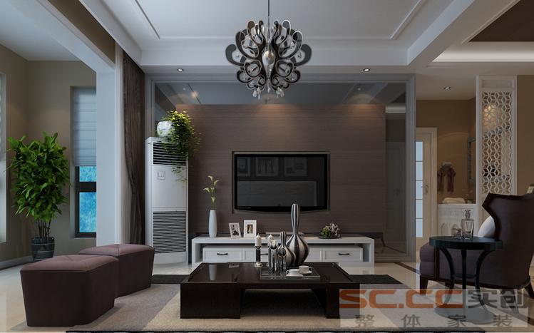 建业贰号城 现代 两居 家装 客厅图片来自郑州实创装饰啊静在建业贰号城邦现代两居的分享