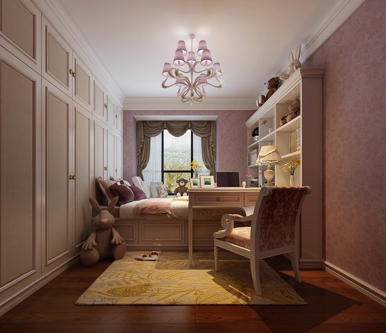 简约 欧式 田园 混搭 二居 三居 别墅 白领 旧房改造 卧室图片来自龙发专家设计师文敏红在林业厅家属院轻奢法式风的分享