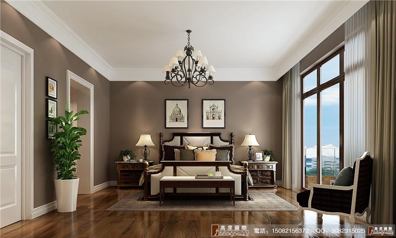 高度国际 别墅装修 成都装修 卧室图片来自成都高端别墅装修瑞瑞在简约美式----成都高度国际装饰的分享
