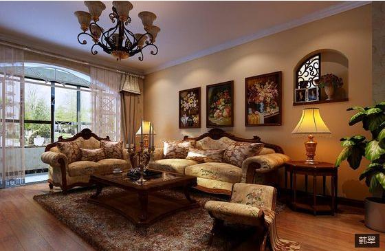 三居 混搭 80后 客厅图片来自上海华埔装饰郑州西区运营中心在民安北郡的分享