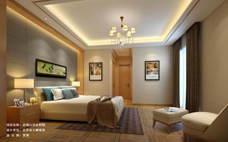 吊顶 灯具 床 床头背景 卧室图片来自成都业之峰装修小管家在330平别墅案例的分享