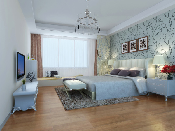 卧室的阳光惬意的照在屋内,使整个房间温暖极具舒适感。 这就是设计的灵魂。来自生活的点睛之笔。