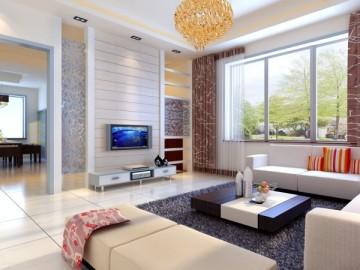 现代温馨三居室效果图
