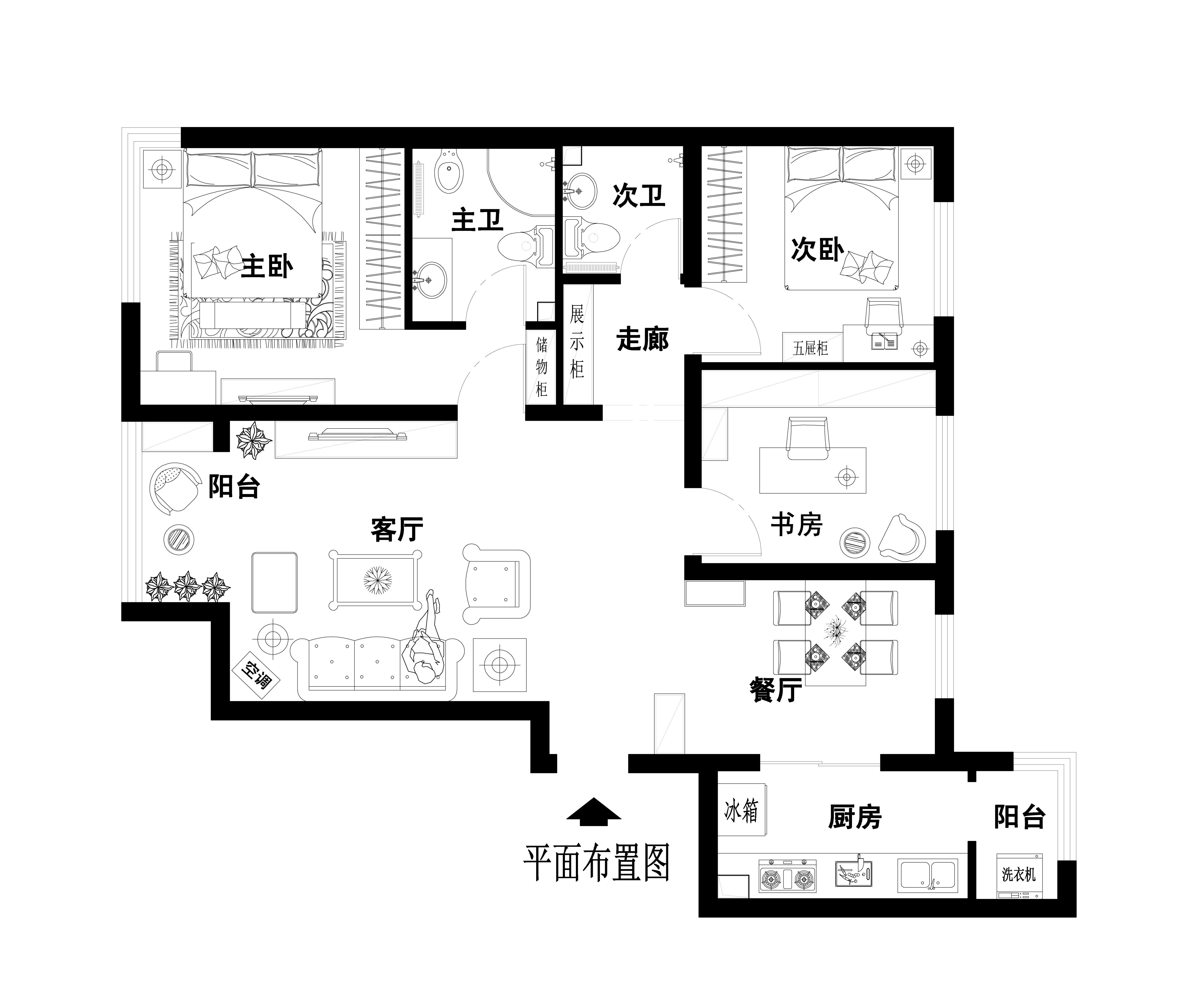 混搭 二居 小户型 上海实创 装修 户型图图片来自孙进进在上海实创装饰两居室小户型混搭风的分享