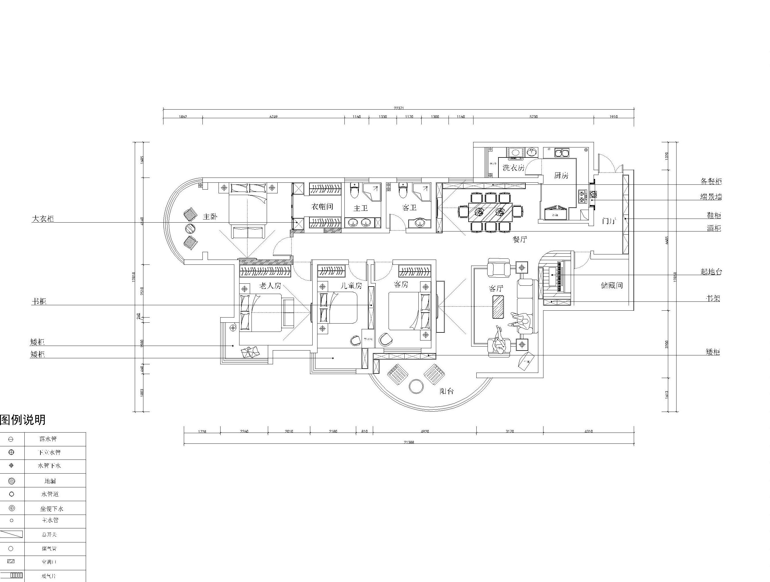 简约 欧式 田园 混搭 二居 三居 别墅 白领 旧房改造 户型图图片来自龙发装饰--梁宇在银基王朝的分享