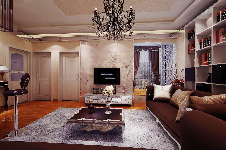 城中央 现代欧式 一居 家装 时尚 客厅图片来自郑州实创装饰啊静在城中央84平现代简欧一居的分享
