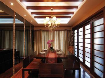 中式风格-285平米四居室装修设计