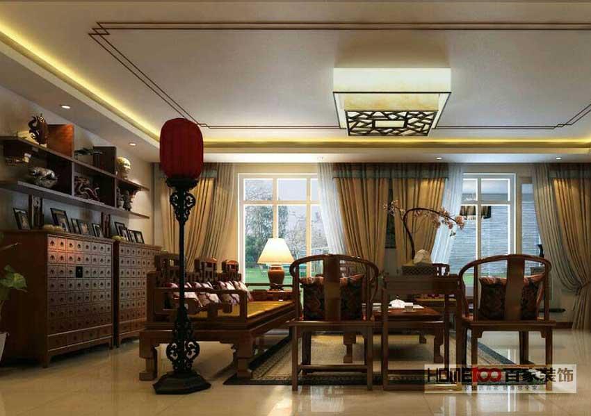 三居 中式风格 家居体验馆 百家装饰 装修怎么样 装修排名 客厅图片来自百家装饰小帅在中铁万科 150平中式风格的分享