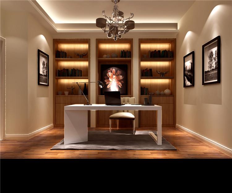 现代简约风 装修案例 装修效果图 K2百合湾 一层带地下 书房图片来自高度国际装饰安妮在K2百合湾现代简约风格的分享