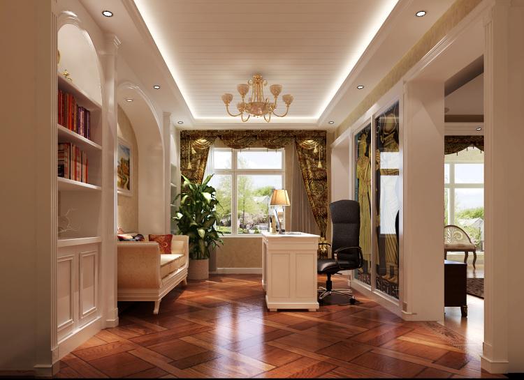 书房图片来自沙漠雪雨在金色漫香苑简欧风格效果图的分享
