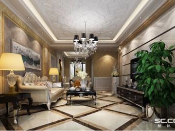 鑫苑世纪东城140平法式风情设计