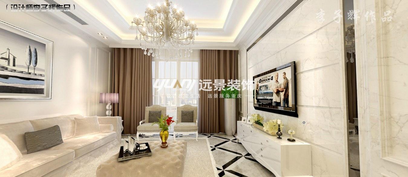 简约 欧式 客厅图片来自重庆远景装饰_张其斌在雅居乐 简约欧式风格的分享