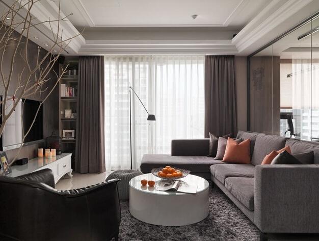 卧龙丽景湾 现代美式 101㎡ 诚臣装饰 二居 客厅图片来自武汉诚臣装饰在卧龙丽景湾现代美式101㎡的分享