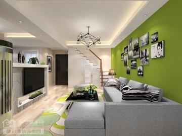 橡树湾110平复式现代风格设计