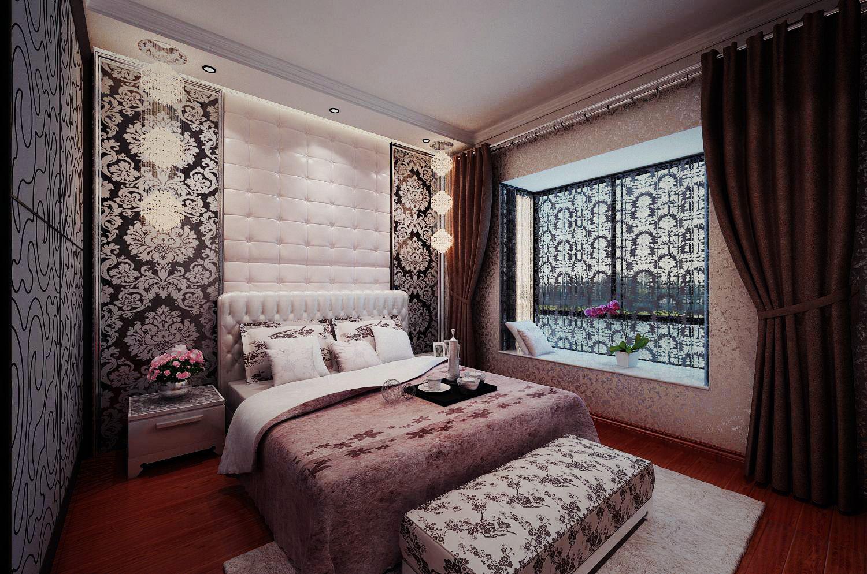 城中央 现代欧式 一居 家装 时尚 卧室图片来自郑州实创装饰啊静在城中央84平现代简欧一居的分享