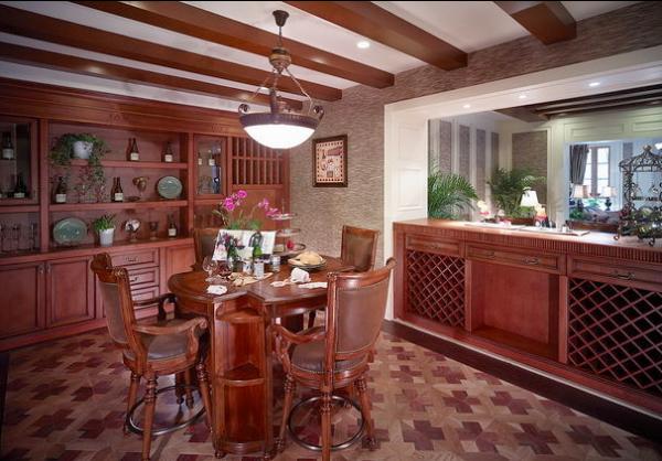 开放式厨房,古朴的木色系,是否让你想起了乡村的小日子呢?