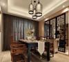 中式风格-175平米三居室装修设计