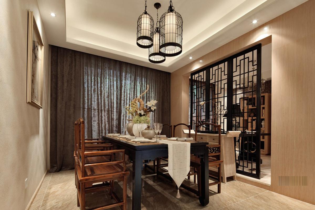 旧房改造 别墅装修 软装配饰 方案设计 餐厅图片来自北京别墅装修-紫禁尚品在中式风格-175平米三居室装修设计的分享